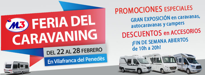Fira del Caravaning a Vilafranca del Penedès del 22 al 28 de Febrer del 2016. T'esperem!