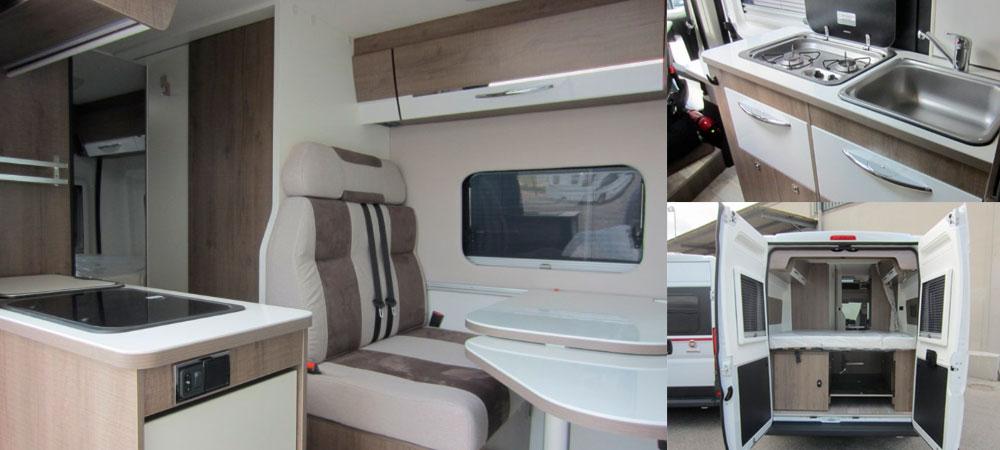 Furgoneta camper per a parelles: Pilote Foxyvan V600G
