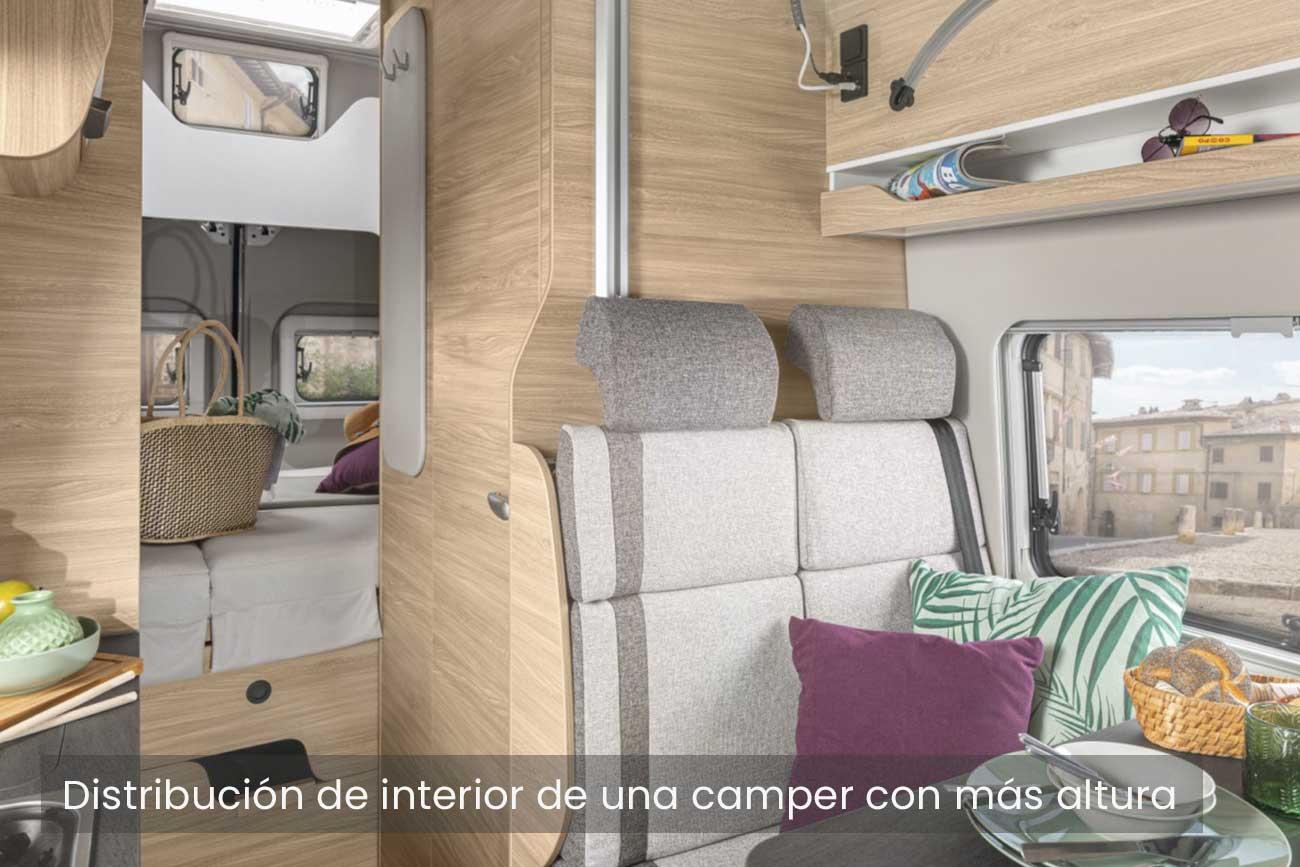 Distribución furgoneta camper
